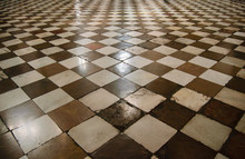 Chess Floor In Renaissance Cathedral