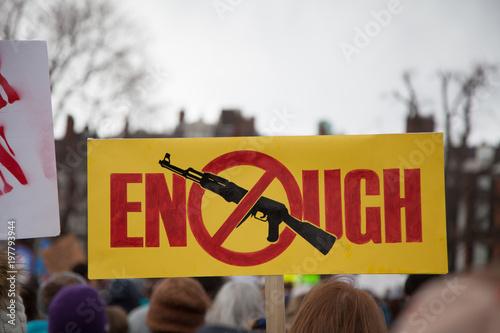 Enough; symbol no assault rifles Canvas Print