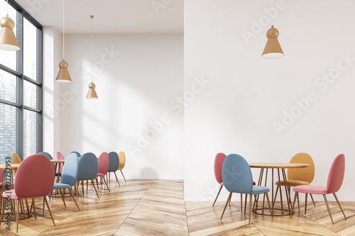 Fototapeta Modern loft cafe with a mock up wall obraz
