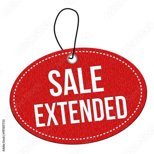 Photo  Sale extended  label or price tag
