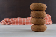 Tall Stack Of Apple Cider Donuts