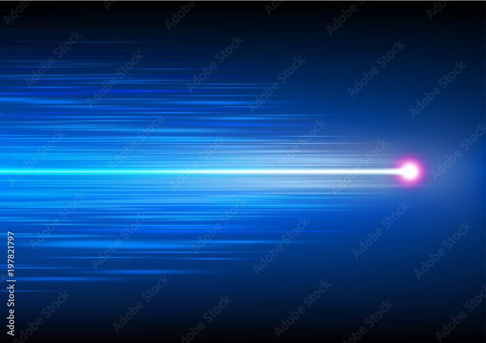 Fototapety, obrazy: Abstract speed motion of fiber optics technology, vector illustration