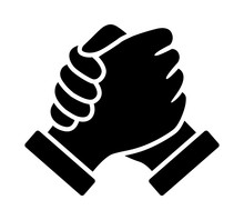 Soul Brother Handshake, Thumb Clasp Handshake Or Homie Handshake Flat Vector Icon For Apps And Websites