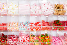 Colored Sweets On The Store Shelves