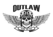 Outlaw. Ghetto Warrior. Skull ...