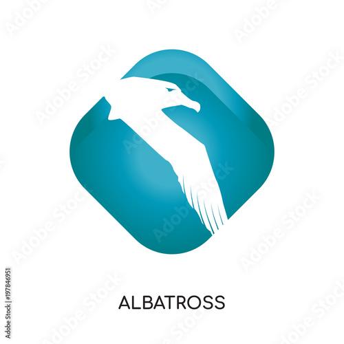 Fotografia, Obraz  albatross logo isolated on white background for your web, mobile and app design