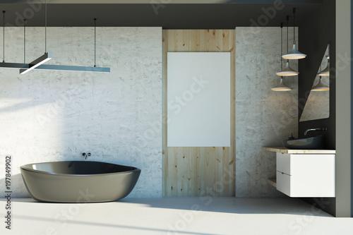 Cadres-photo bureau Pays d Europe Modern bathroom with empty banner