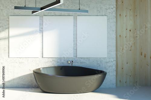 Cadres-photo bureau Pays d Europe Modern bathroom with empty billboard