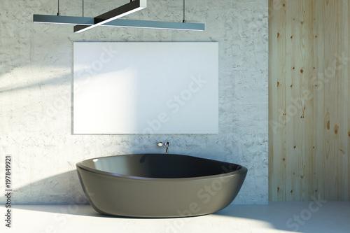 Cadres-photo bureau Pays d Europe Modern bathroom with blank poster