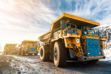 Large Quarry Dump Truck. Loadi...