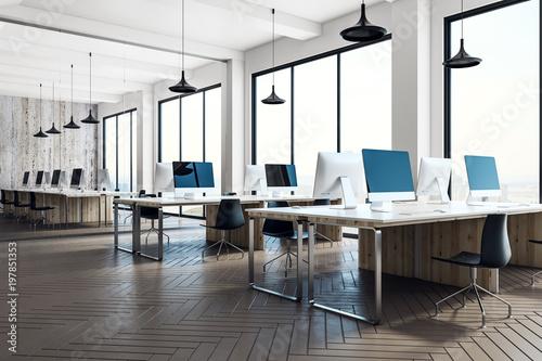 Obraz Minimalistic coworking office interior - fototapety do salonu