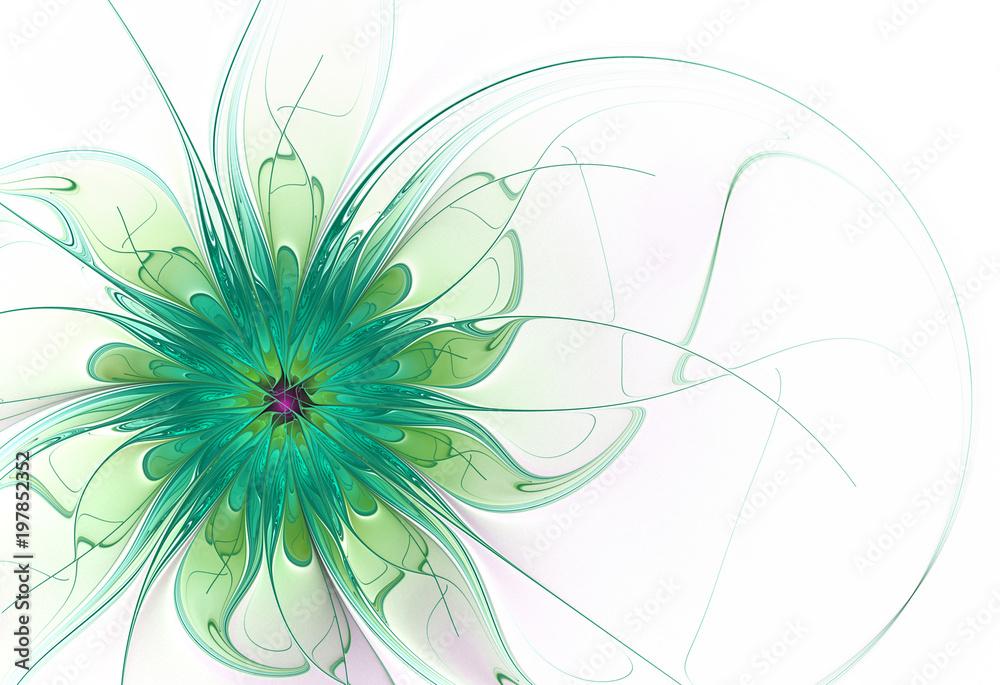 Абстрактный цветок на белом фоне