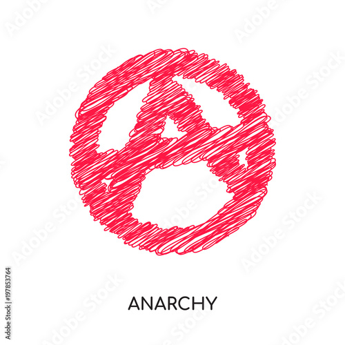 Fotografie, Obraz  anarchy logo isolated on white background for your web, mobile and app design