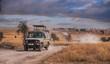 canvas print picture - Game drive Safari in Serengeti national park,Tanzania