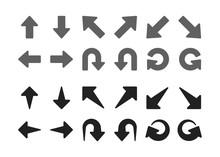 Single Direction Arrow Icon Set