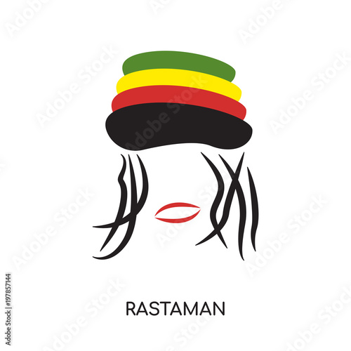 Photo  rastaman logo isolated on white background for your web, mobile and app design