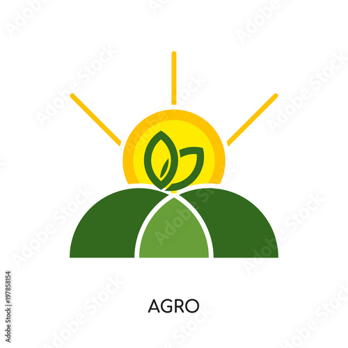 agro logo isolated on white background for your web, mobile and app design Wallpaper Mural