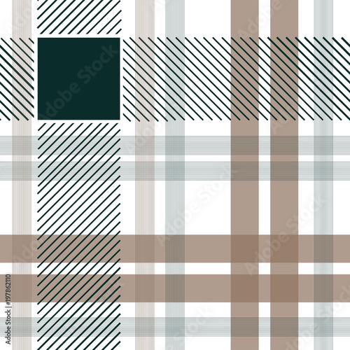 Tartan fabric seamless pattern  Stock vector illustration of