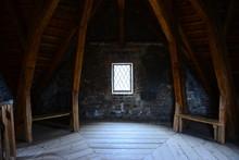 Ancient Castle Interior Design. Tower View. Czech. Design, Architecture.