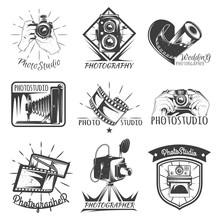Camera Photography Vintage Photo Logo, Retro Concept