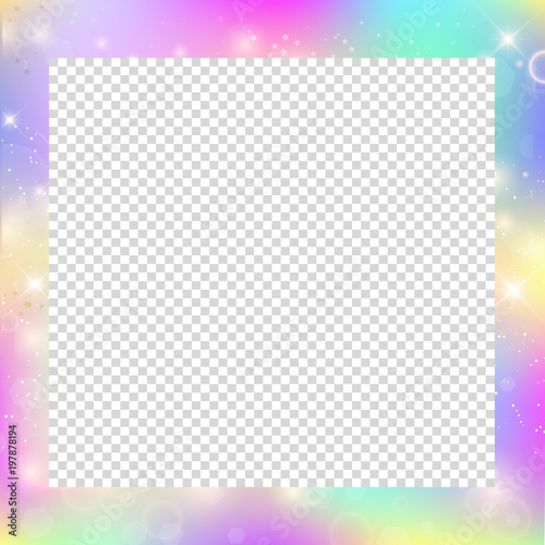 Magic frame with rainbow mesh and space for text. - Buy this stock ...