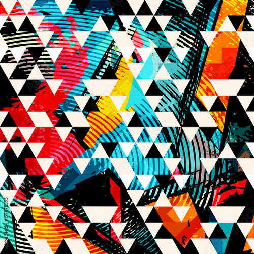 Photo  abstract color pattern in graffiti style