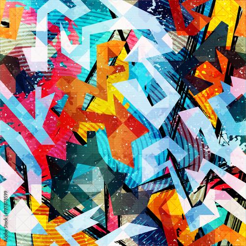 Photo sur Plexiglas Graffiti abstract color pattern in graffiti style. Quality vector illustration for your design