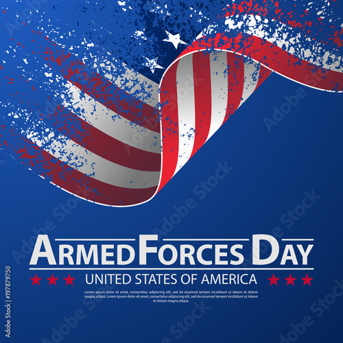 Photo  Armed forces day template poster design