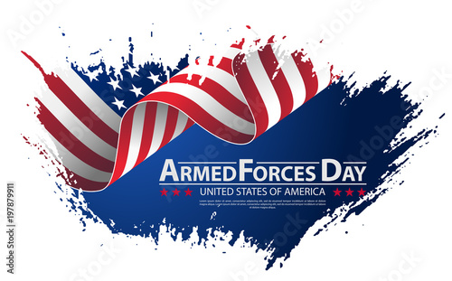 Armed forces day template poster design Canvas Print