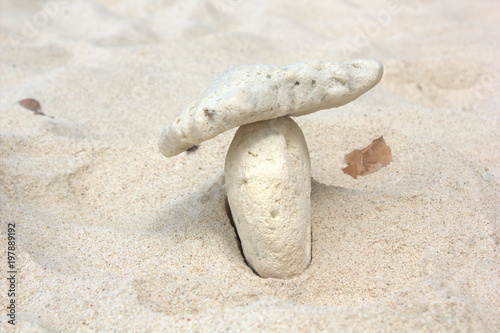 Acrylic Prints Stones in Sand Stones on sand