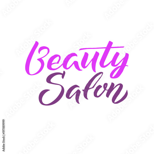 Obraz na plátně  Logo Beauty Salon Lettering. Custom handmade calligraphy, vector