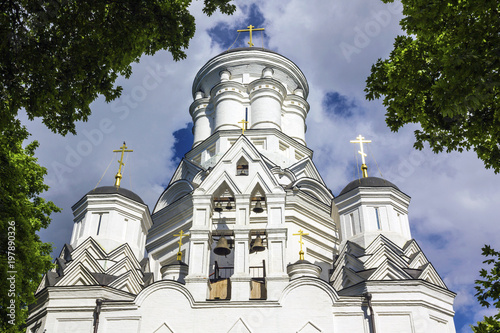 Valokuva  The facade of Orthodox Church of the Beheading of Saint John the Baptist in Diakovo, Kolomenskoye, Moscow, Russia