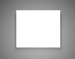 Blank picture frame on transparent background