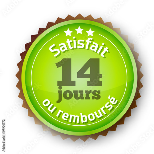 Fotografía  Icône pour commerce en ligne - Garantie Satisfait ou remboursé 14 jours