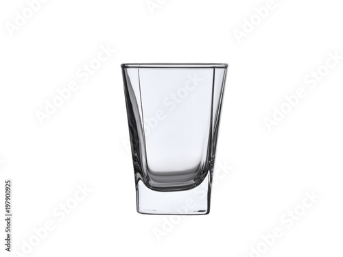 empty glass pile for whiskey or vodka isolated on white background