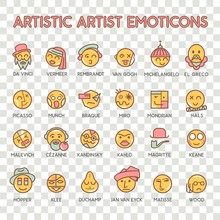 Emoticon Artistic Artist Vecto...