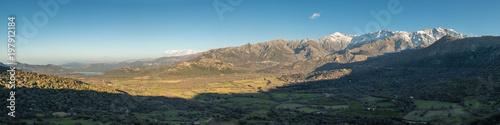 Panoramic view of Regino Valley and mountains in Corsica Slika na platnu