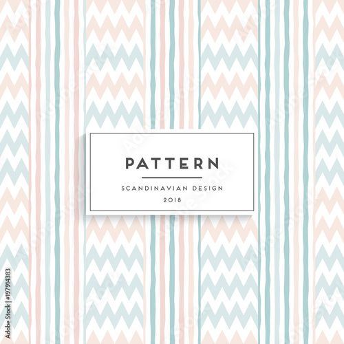 Fotografija  Scandinavian floral seamless pattern