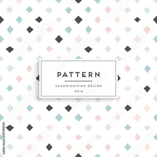 Scandinavian floral seamless pattern Wall mural