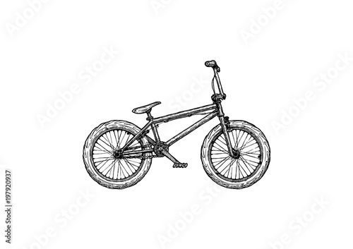 illustration of BMX bike Canvas Print