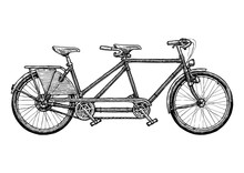 Illustration Of Tandem Bicycle