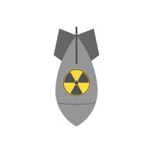 Nuke Bomb. Flat. Vector.