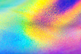 Fototapeta Tęcza - Rainbow real holographic foil texture background