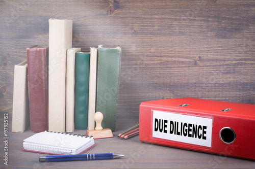 Fotografie, Obraz  Due Diligence, Business Concept. Binder on desk in the office