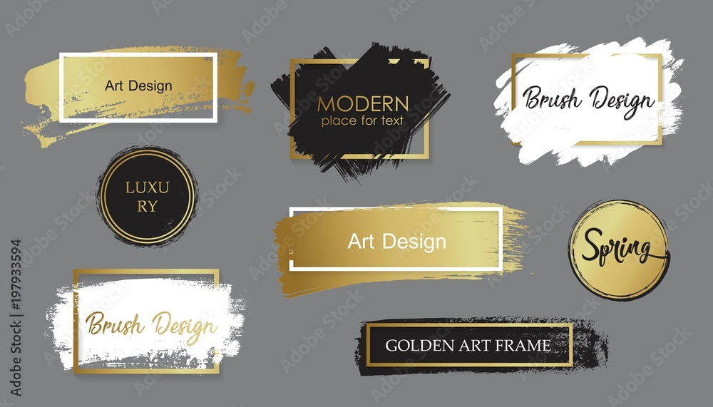 Fototapety, obrazy: Vector black paint, ink brush stroke, line or texture. Dirty artistic design element, box, frame or background for text.