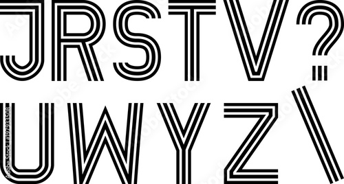 Valokuvatapetti font made with three lines