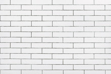 White Ceramic Tile Wall Backgr...