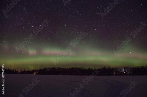 Fotografia, Obraz  Northern Lights in Minnesota