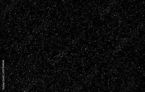 Perfect starry night sky background - outer space vector background Canvas Print