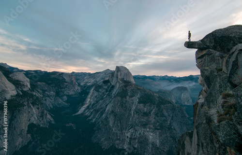 Fotografie, Obraz  Perhaps the best view of glacier point where this unknown adventurer dares to st